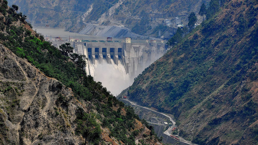 The Baglihar dam on Chenab.